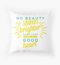 No Beauty Shines Brighter Quote Throw Pillow