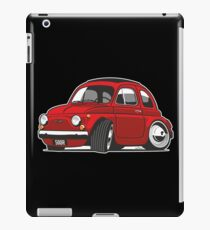 Fiat 500R caricature red iPad Case/Skin