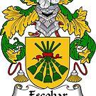 Escobar Coat of Arms/ Escobar Family Crest by William Martin