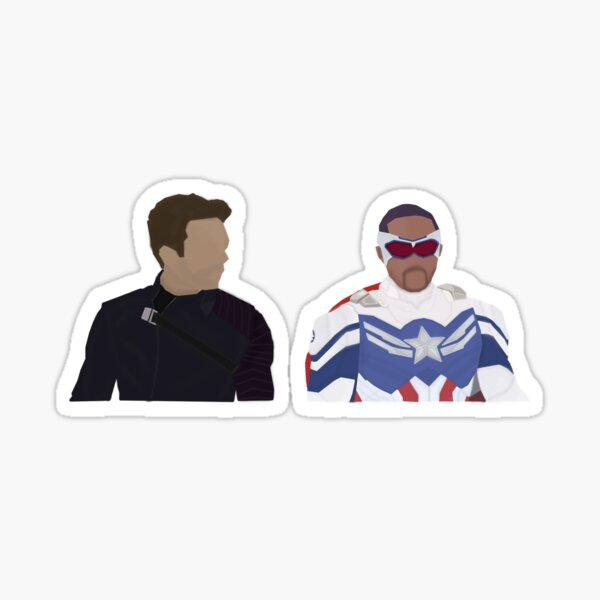 Sam & Bucky - Cap and Winter Soldier | Sticker