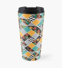 Colorful Geometric Primitive Pattern Travel Mug
