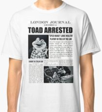Toad Arrested Newspaper Classic T-Shirt