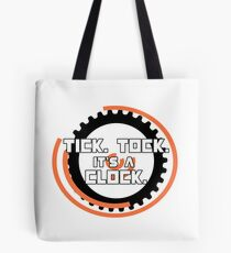Catching Fire Hunger Games Clock Tote Bag