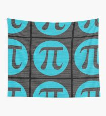 First 10,000 digits of Pi, blue on black. Wall Tapestry