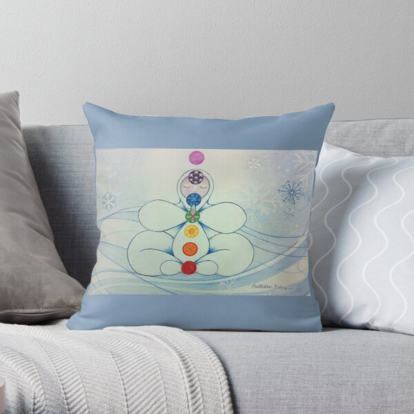 Meditation Baby Throw Pillow