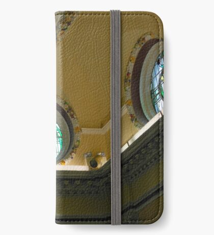 Elegant Stained Glass Windows, Town Hall, South Shields iPhone Flip-Case