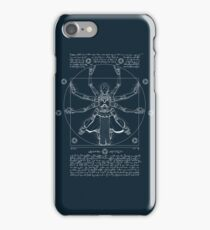 Vitruvian Omnic - white version iPhone Case/Skin