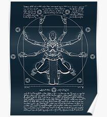 Vitruvian Omnic - white version Poster