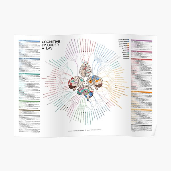 Cognitive Disorder Atlas - Explained Poster
