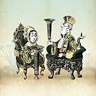 Vellamo with Ahti on their Thrones by TheIsidoreTarot