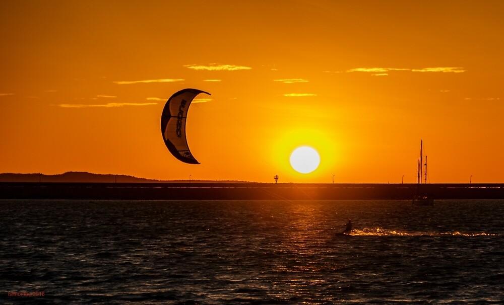 Sunset Kite Surfer by IsithombePhoto