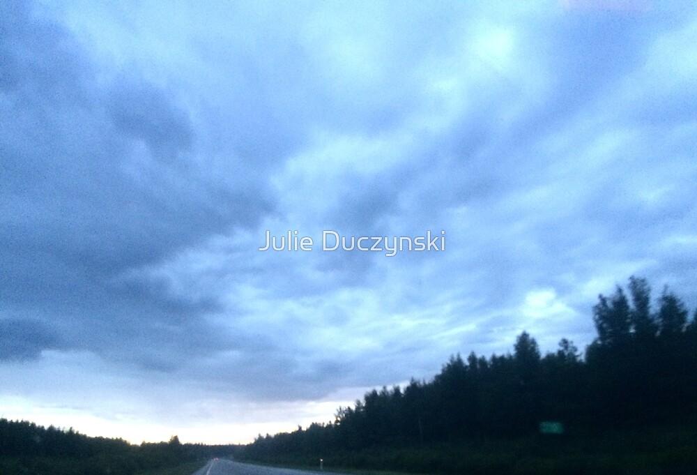 Alberta mountain clouds by Julie Duczynski
