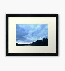 Alberta mountain clouds Framed Print