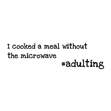 No Microwave - Adulting by rhetorica01