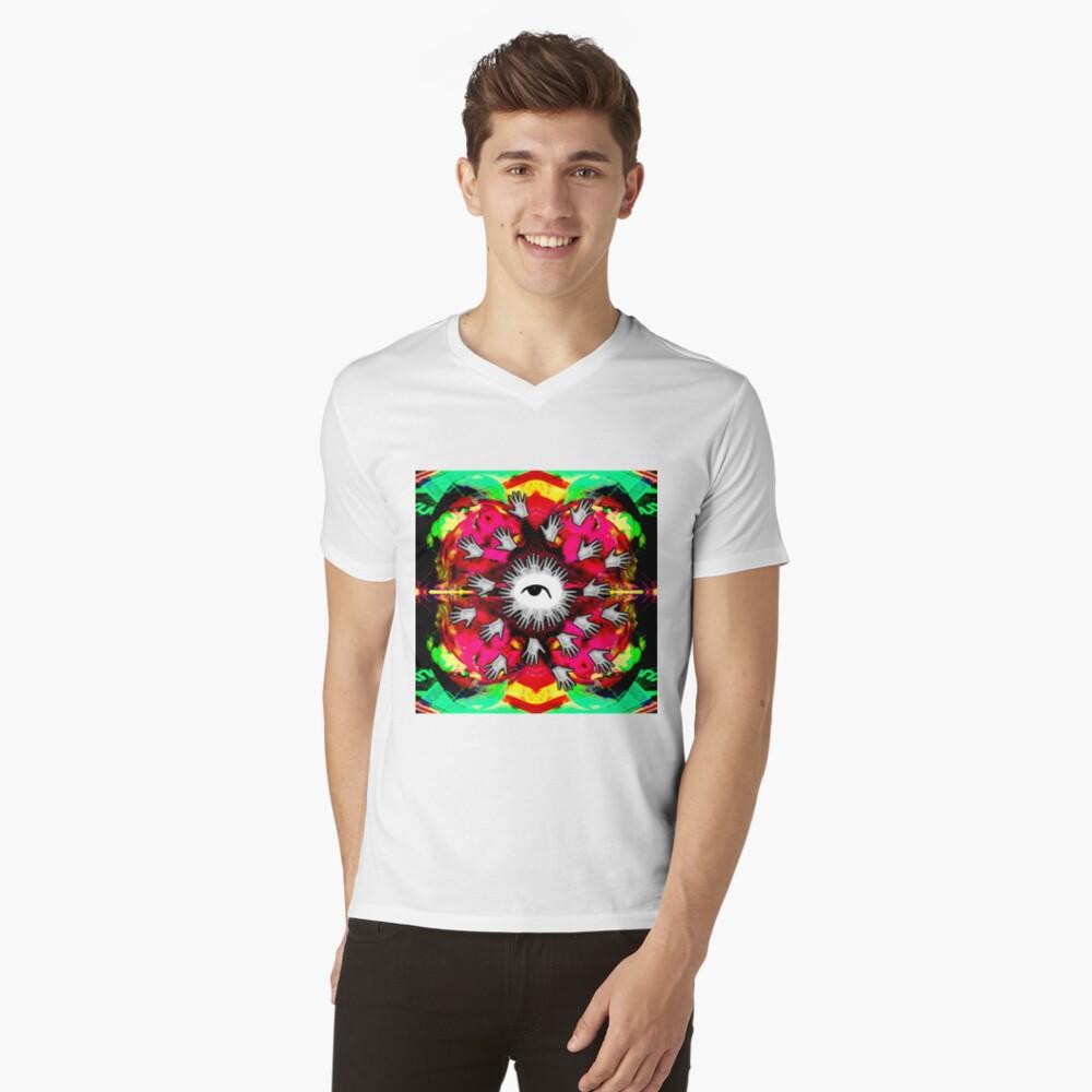 Hand me the food (Color Vomit) V-Neck T-Shirt