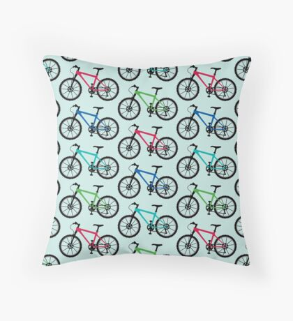 mountain bike multi   Throw Pillow