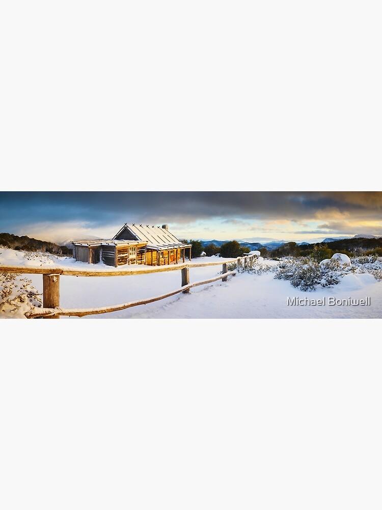 Craigs Hut Winter Sunrise, Mt Stirling, Victoria, Australia by Chockstone