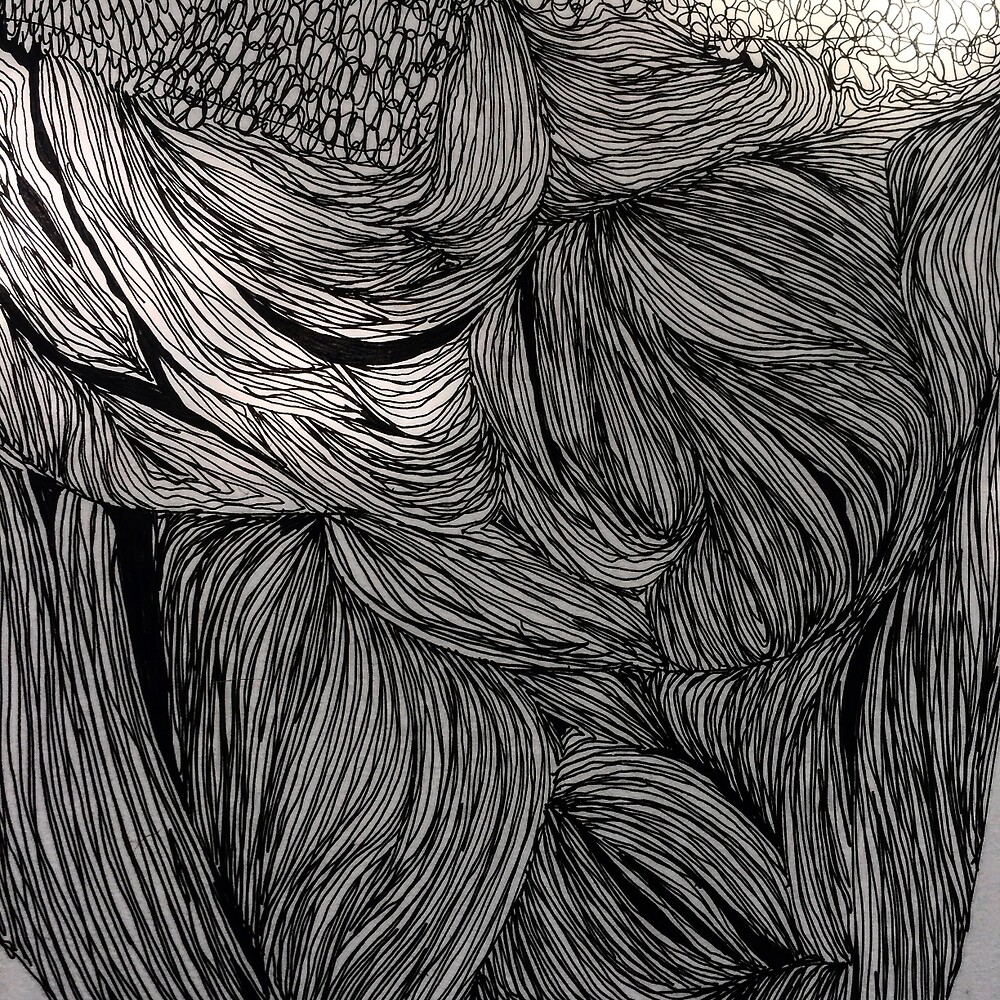 Growth of Bacteria, Ink Drawing by morgsmiddleton