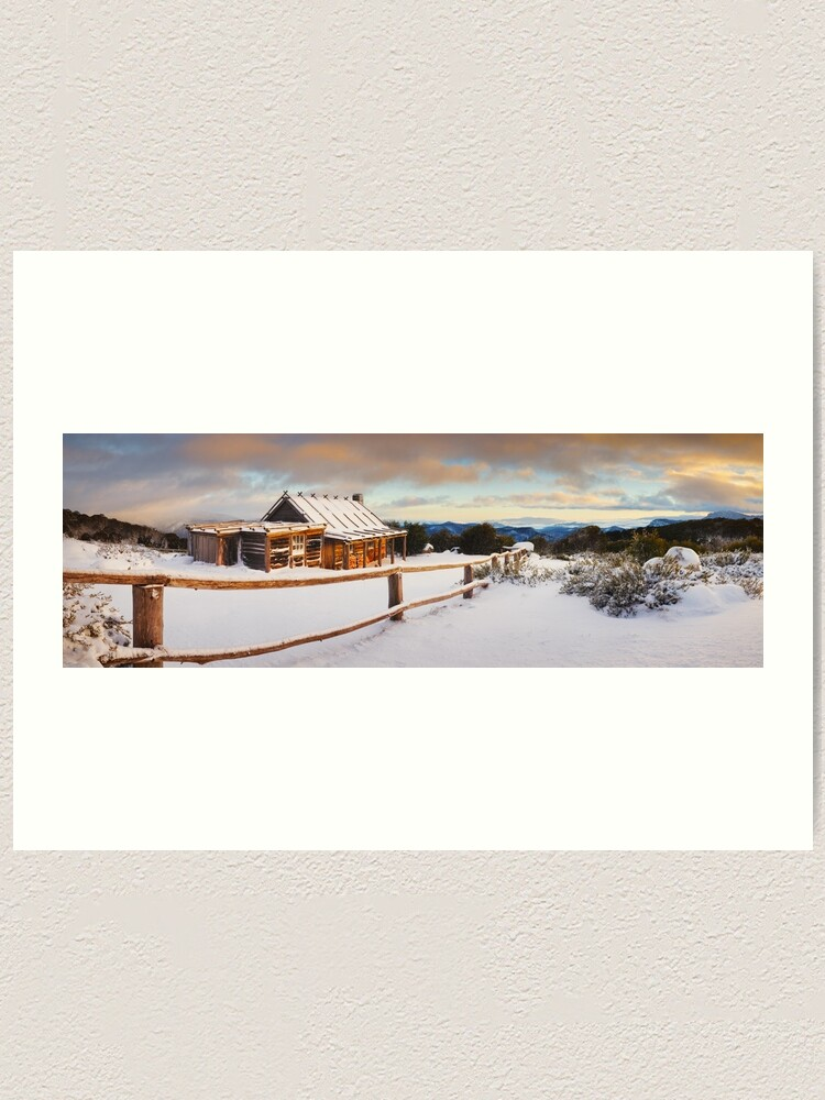 Alternate view of Craigs Hut Winter Dawn, Mt Stirling, Victoria, Australia Art Print