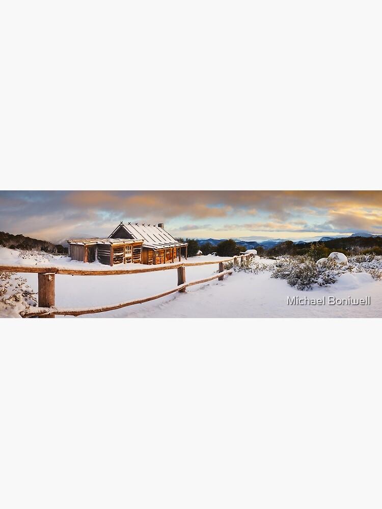 Craigs Hut Winter Dawn, Mt Stirling, Victoria, Australia by Chockstone