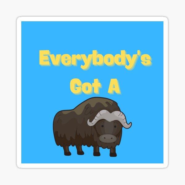 Silly Water Buffalo Sticker