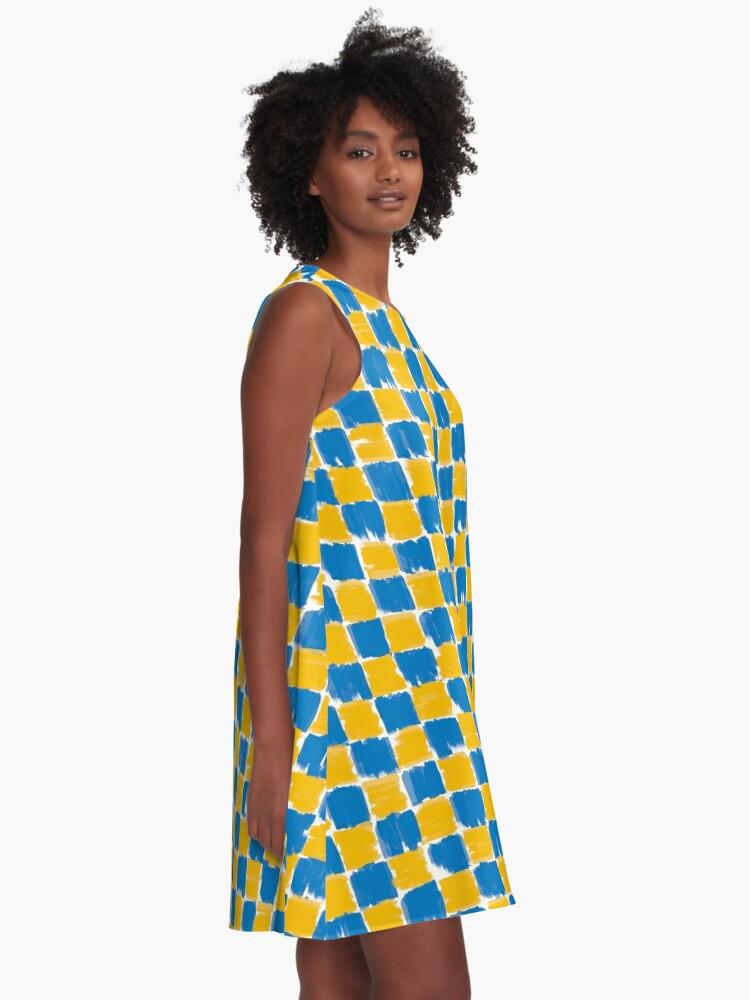 Alternative Ansicht von checkerboard A-Linien Kleid