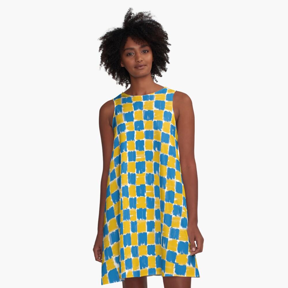 checkerboard A-Linien Kleid