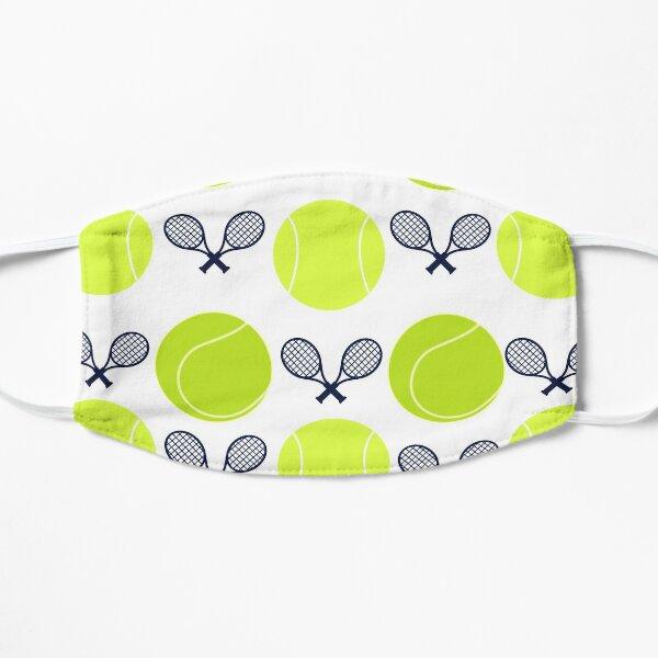 tennis balls x rackets Flat Mask