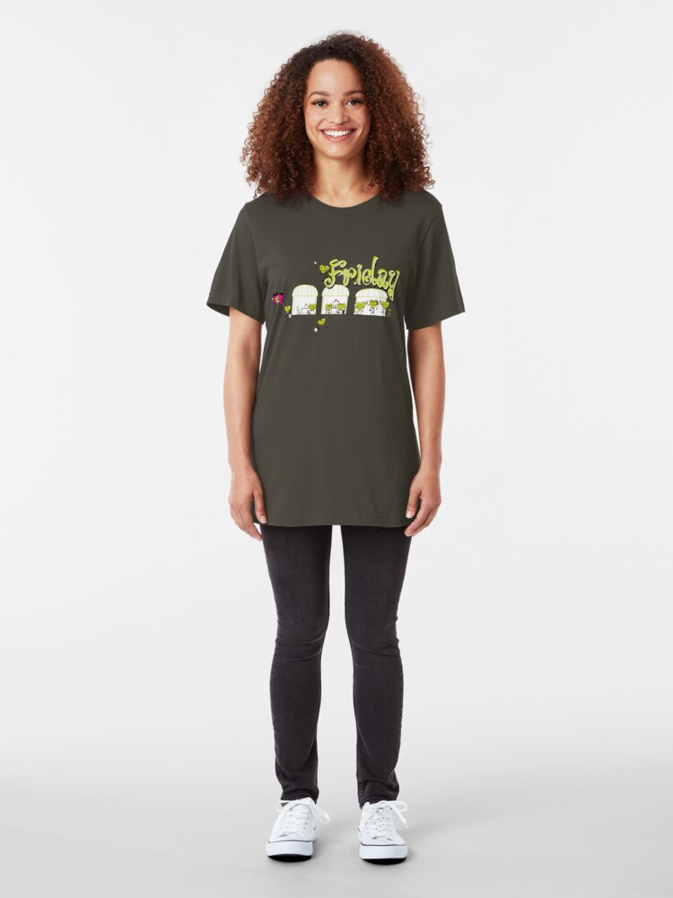 Alternate view of Days of the week - Friday Slim Fit T-Shirt