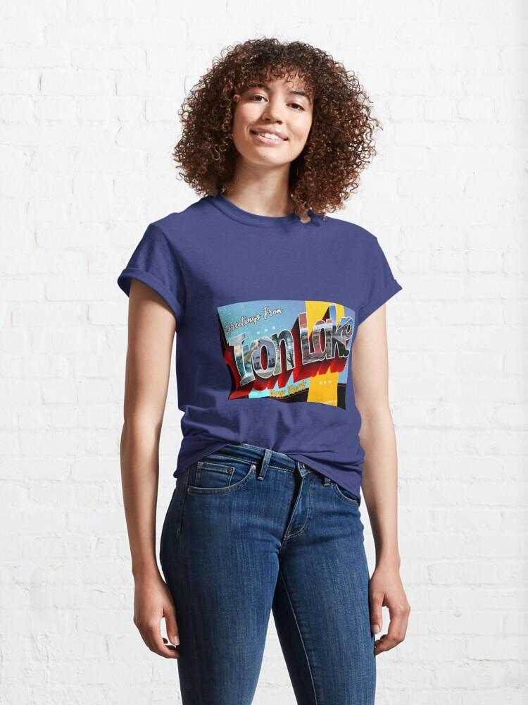Alternate view of Greetings From Iron Lake New York - Dexter Morgan Classic T-Shirt