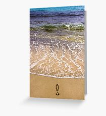 Exclamation point on the sand Greeting Card