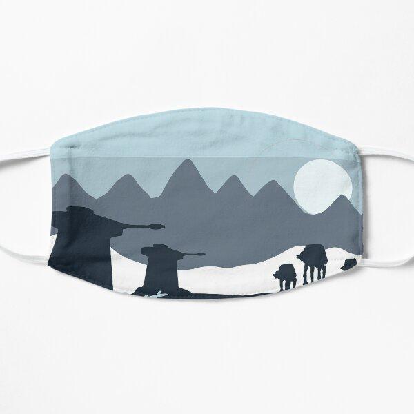 Eternal winter world planet  Flat Mask