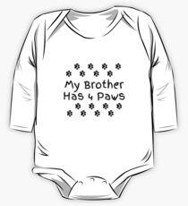 Mein Bruder hat vier Pfoten. Baby Body Langarm