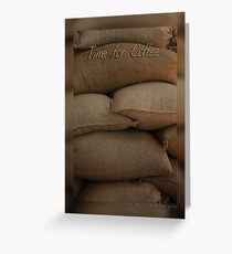 Coffee Time Card © Vicki FerrarI Greeting Card