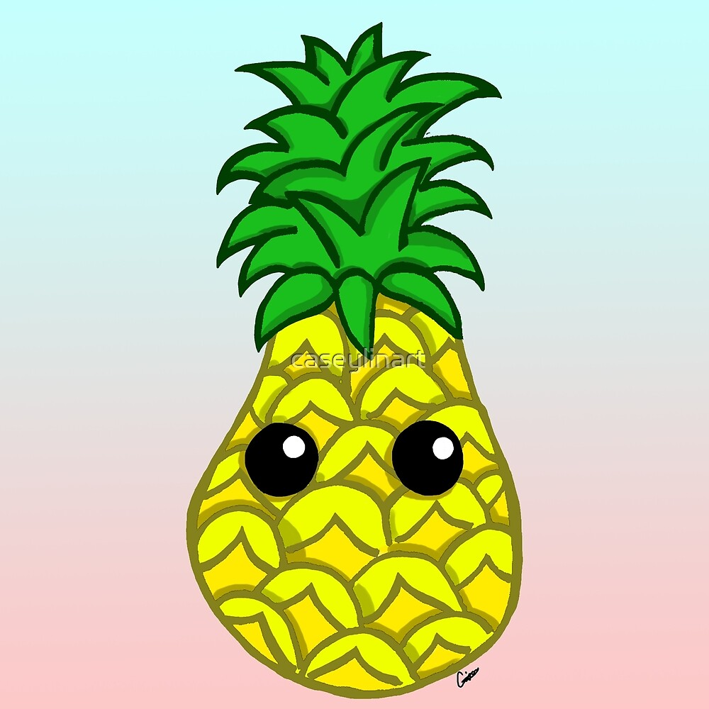 Cute Pineapple by caseylinart
