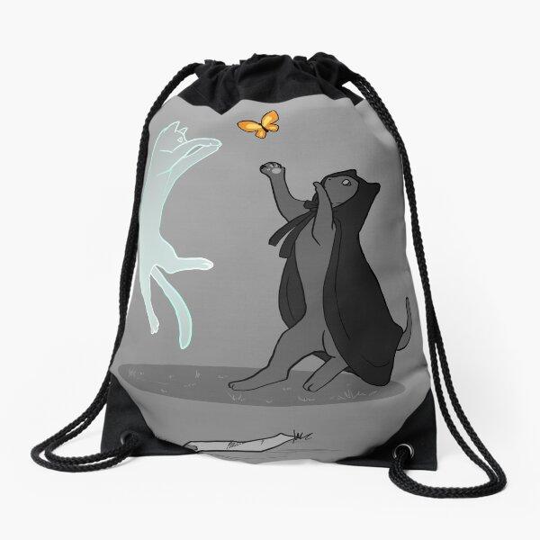 Chasing butterflies Drawstring Bag
