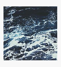 Dark Stormy Ocean Pattern Photographic Print