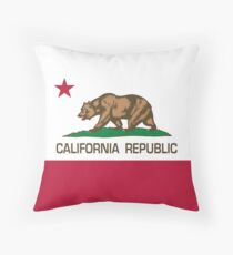California Republic state flag Authentic version Throw Pillow