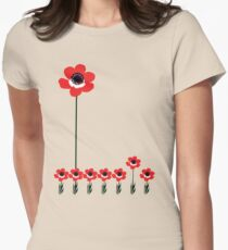 tall poppy. Women's Fitted T-Shirt