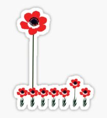tall poppy. Sticker