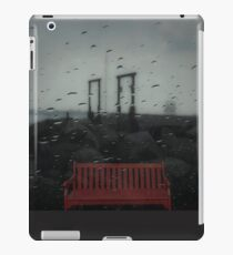 red bench iPad Case/Skin
