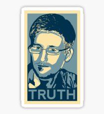 """""""Edward Snowden, TRUTH"""" Sticker"""