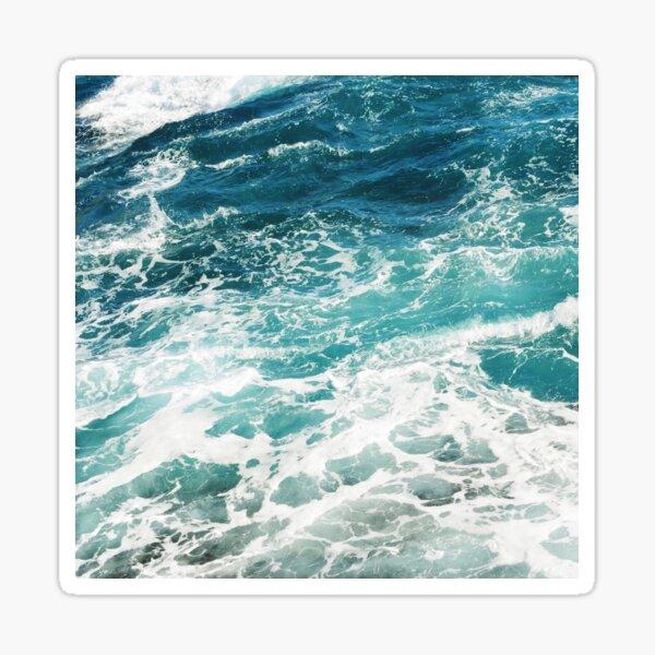 Vagues de l'océan bleu Sticker
