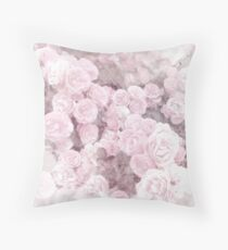 Watercolor Roses Print 2 Throw Pillow