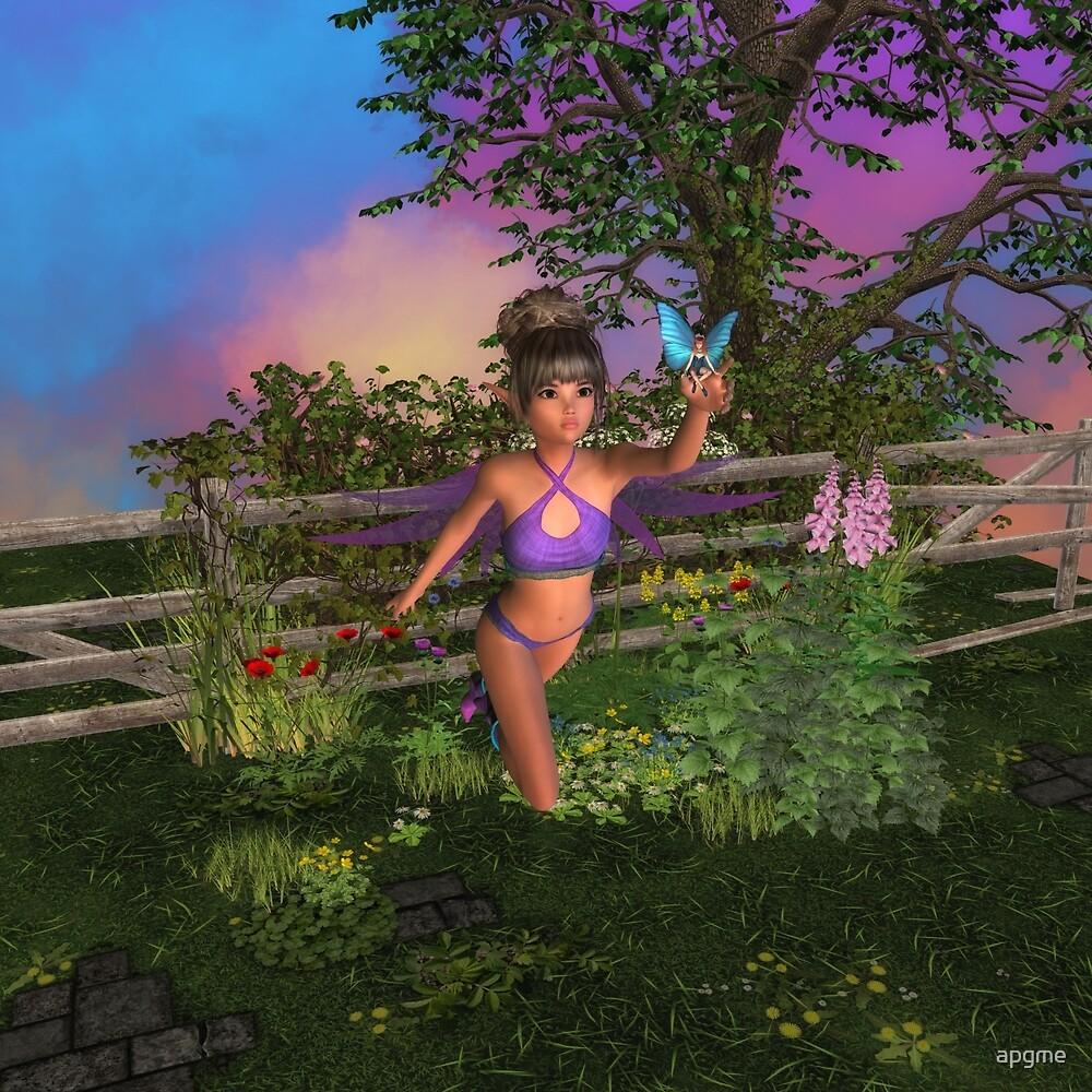 Forest Sprite Fairy Garden by apgme