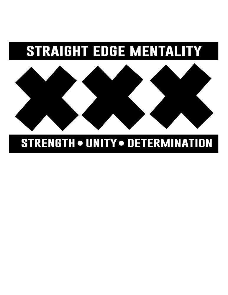 XXX STRAIGHT EDGE SHIRT  by DZRCLOTHING