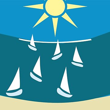 Sails in the summer by bepi