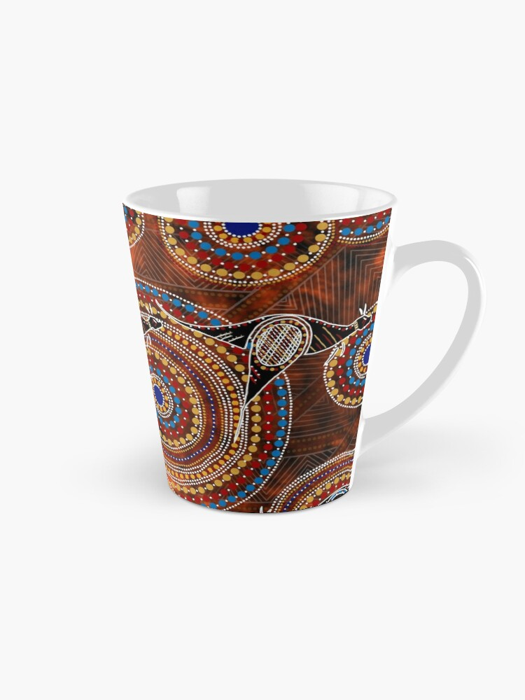 Aboriginal Dot Art Kangroo Coffee Mug