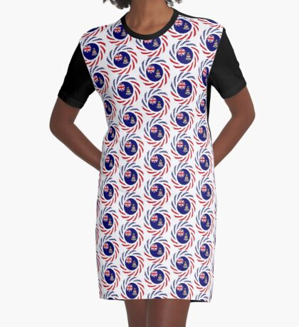Caymanian American Multinational Patriot Flag Series Graphic T-Shirt Dress