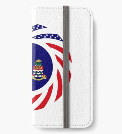 Caymanian American Multinational Patriot Flag Series iPhone Wallet